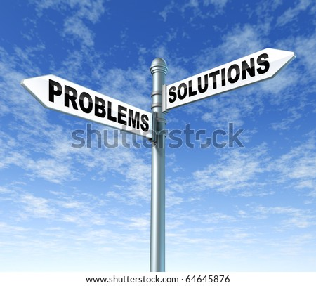 problems solutions street signpost sign