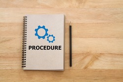 Procedure manual book for work instruction