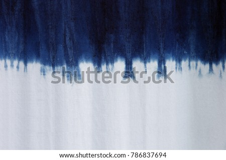 Process dye fabric  indigo color in Phare Thailand. #786837694