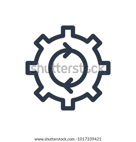 Process icon. Isolated cogwheel and process icon line style. Premium quality  symbol drawing concept for your logo web mobile app UI design.