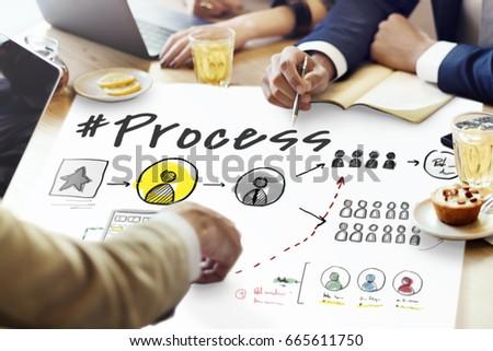 Process Network Workflow Teamwork Infographic