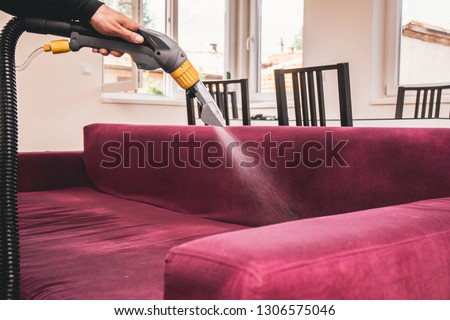 Process of deep furniture cleaning. #1306575046