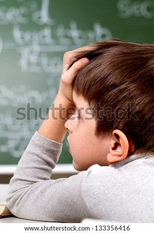process of education in school - stock photo