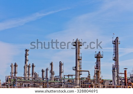 Processing reactor column towers of oil and gas industry petrochemical refinery factory plant