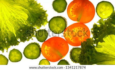 Processing vegetables with illumination, unusual product preservation, gmo-free #1341217874