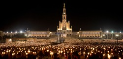 Procession of Candles at the Sanctuary of Our Lady of Fatima, Portugal