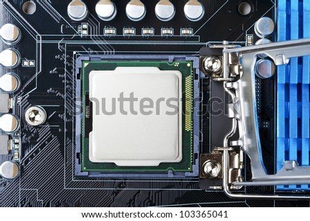processor socket on computer motherboard