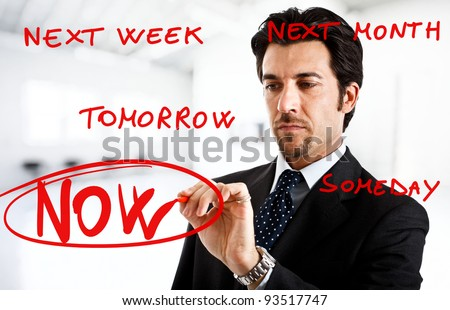Procrastination - stock photo