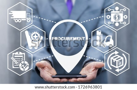 Procurement Management Business Concept. Modern Supply Chain Logistics Delivery Technology. Stockfoto ©