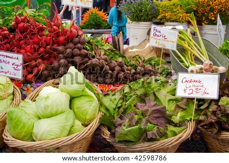 produce at farmers market