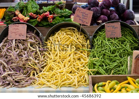 produce at farmers market - stock photo