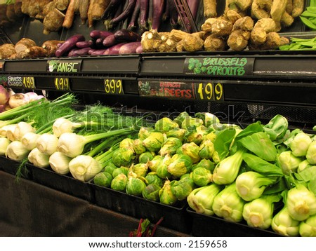 Produce isle at market