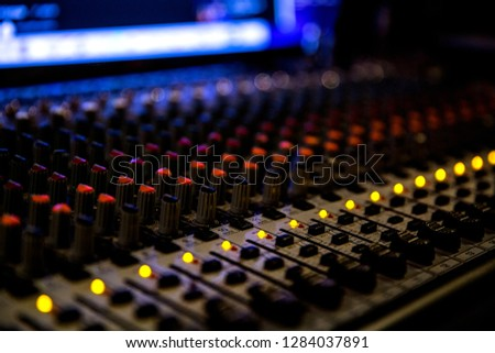 Producer keyboard, studio, mixer #1284037891