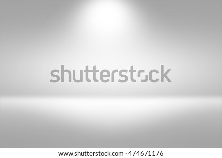 Product Showscase Spotlight Background - Crisp and Clear Infinite Horizon White Floor - Light Scene for Modern Clean Minimalist Design, Widescreen in High Resolution