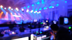 production background light ray bokeh blurry streaming esport