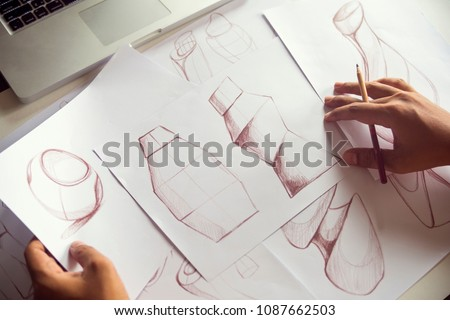 Production designer sketching Drawing Development Design idea Creative Concept