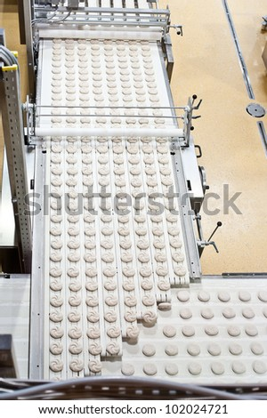 Production Line with Bakery Products