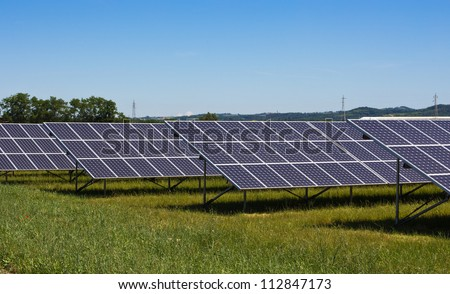 production of electrical energy to zero emissions with solar panels