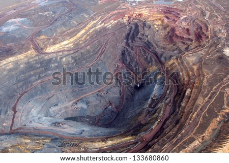 Production of iron ore by open way in Kazakhstan