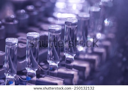 production of medicines in ampoules on automatic lines