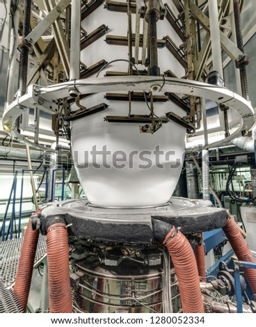 production of polyethylene. production of plastic packaging plant