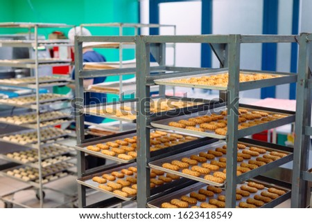 Production of shortbread cookies in a confectionery factory