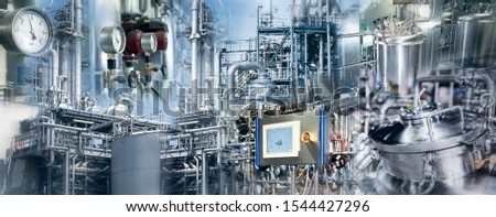 Production plants of the chemical industry and pharmaceutical industry #1544427296