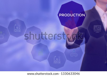 PRODUCTION - technology and business concept #1330633046