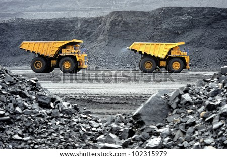 Production useful minerals the dump truck