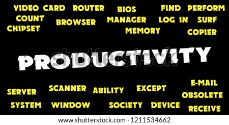 PRODUCTIVITY Words and tags cloud #1211534662