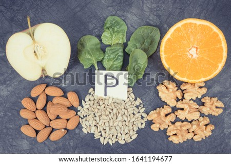 Products and ingredients containing natural vitamin P, dietary fiber and minerals. Best nutritious food for healthy lifestyles