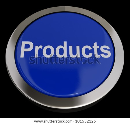 Products Computer Button In Blue Showing Internet Shopping For Goods