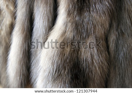Products from natural fur of a sable and a mink