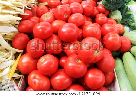 Products on the market. Tomatoes