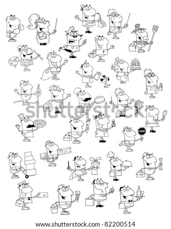 Profession People.Big Raster Collection.Vector version is also available