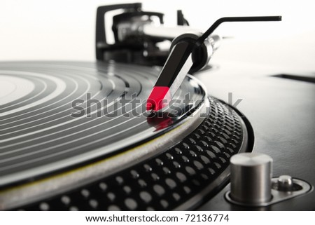 Professional analog audio equipment - stock photo