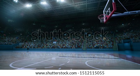 Professional basketball arena made in 3D.