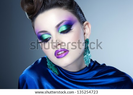 Most Beautiful Woman Face Face Studio Beauty Shot