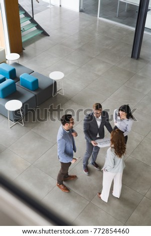 Professional business people working together on project