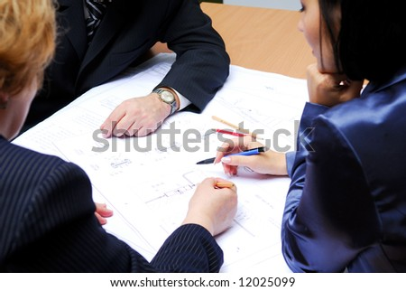 Professional business team working