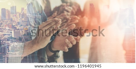 Professional Business Teamwork . People Business Congratulation, Management Corporate Company. Customer Service Evaluation Teamwork. Cooperation People Team Support . Clapping Celebrate successful.