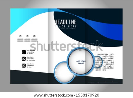 Professional Business Trifold Brochure, Template or Flyer design with free space for your image.  #1558170920