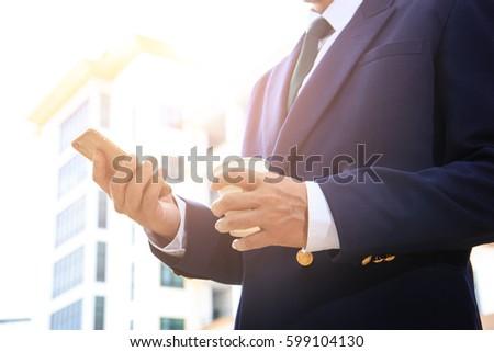 professional businessman using...