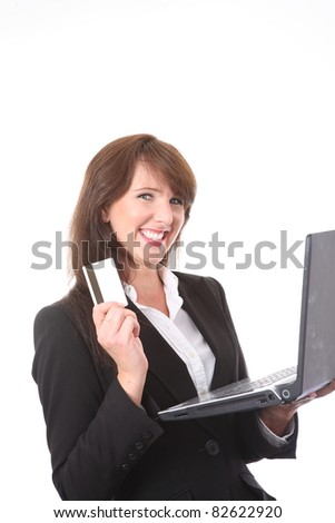 Professional businesswoman with credit card