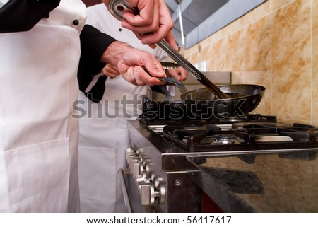 professional chefs cooking