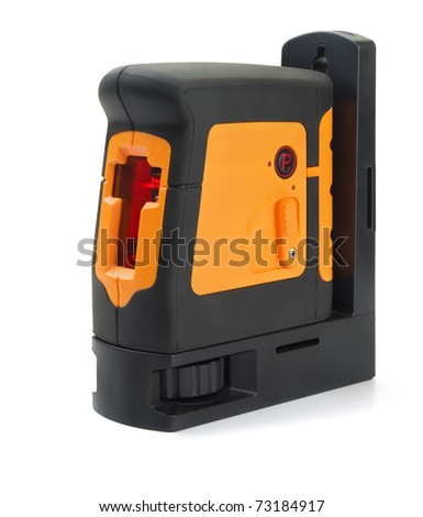 Professional constructions laser level isolated on white