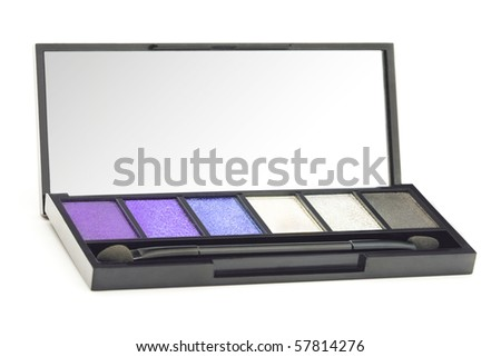 Professional cosmetic accessories on a white background