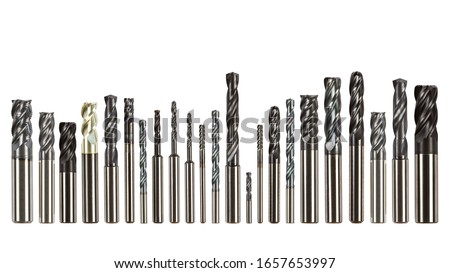Professional cutting tools used for metalwork/woodwork. Isolated on white background. ストックフォト ©