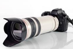 Professional digital photo camera with tele lenses