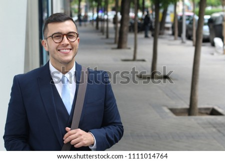 Professional Eurasian male with copy space #1111014764